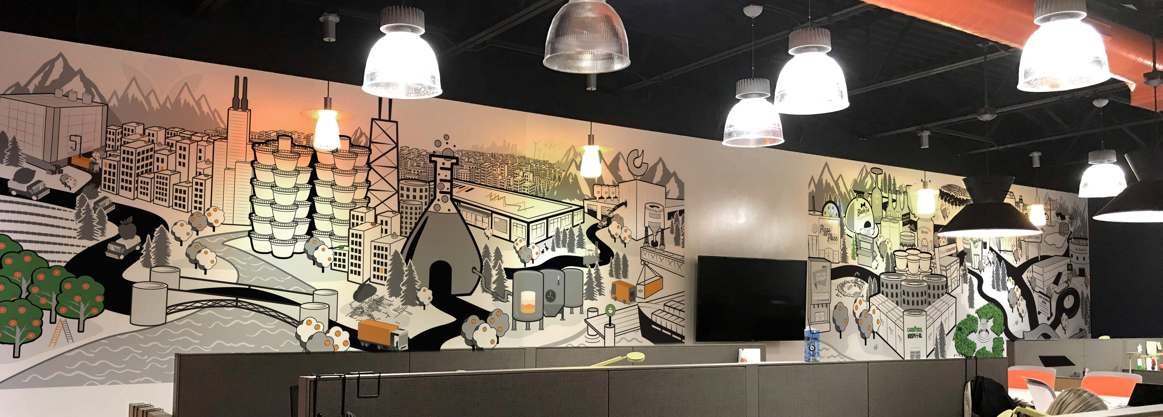 The Advenutre Agency | Wall Mural Design