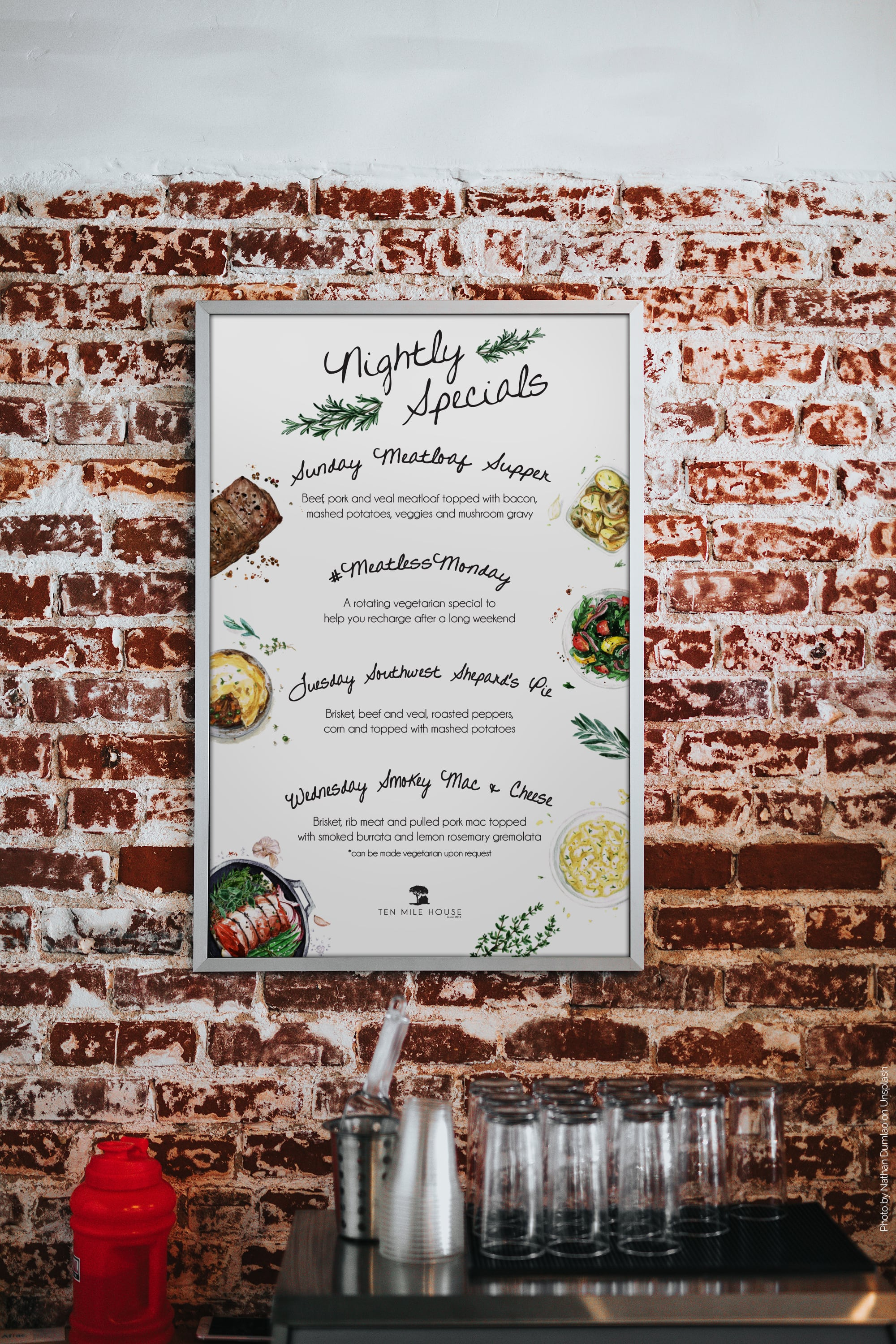 The Adventure Agency | Restaurant Promotional Poster Design Services